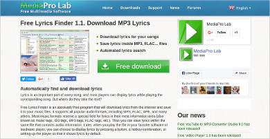 lyrics finder most popular software