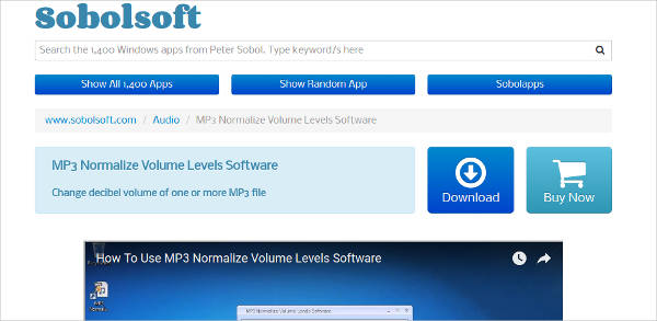mp3 normalize volume levels software