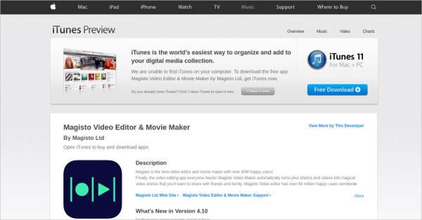 magisto video editor for mac