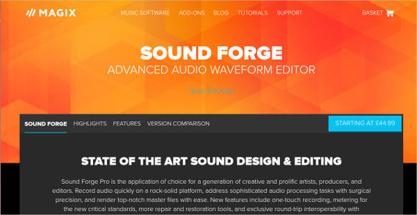 magix sound forge most popular software