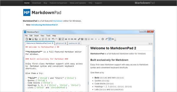 markdownpad2 most popular software
