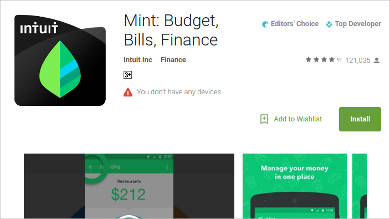 mint budget bills finance for android