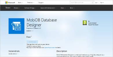 mobi db database designer
