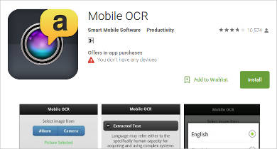 mobile ocr for android