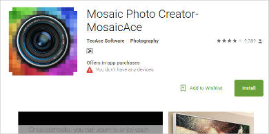 mosaicace for android