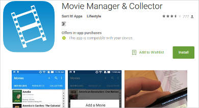 movie manager collector for android