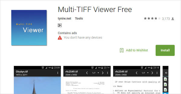 multi tiff viewer free for android