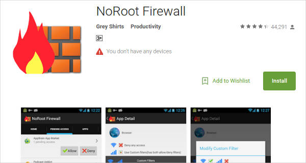 noroot firewall for android1