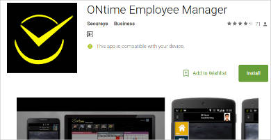ontime employee manager for android