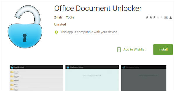 office document unlocker for android
