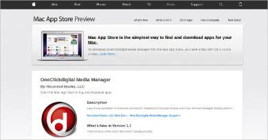 oneclickdigital media manager for mac