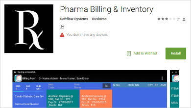 pharma billing inventory for android