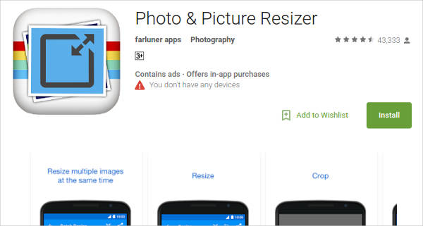 photo picture resizer for android