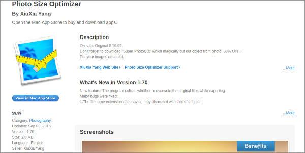 photo size optimizer for mac