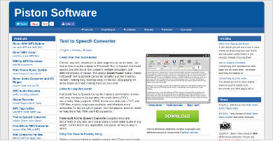pistonsoft text to speech converter