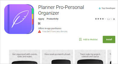 planner pro personal organizer for android