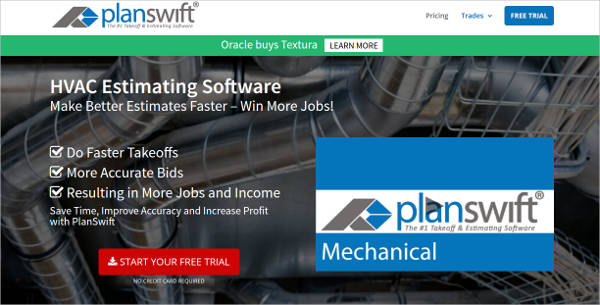 planswift hvac estimating software most popular software