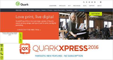 quarkxpress most popular software