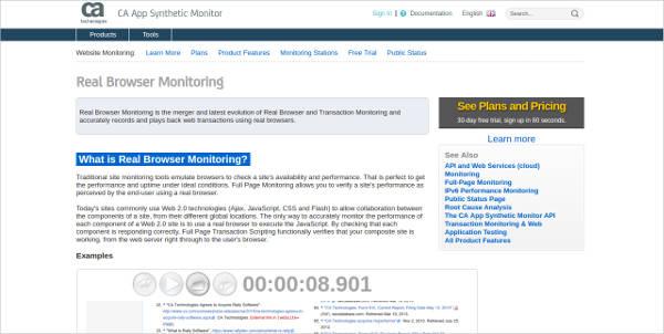 real browser monitoring