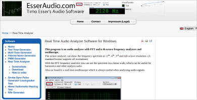 real time audio analyzer software for windows
