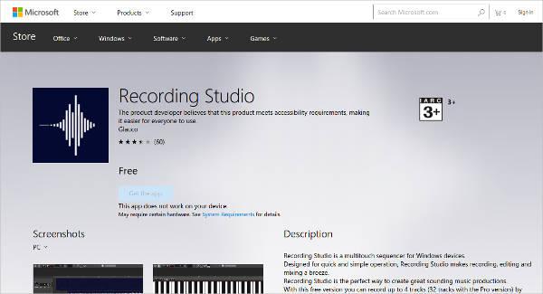 recording studio for windows