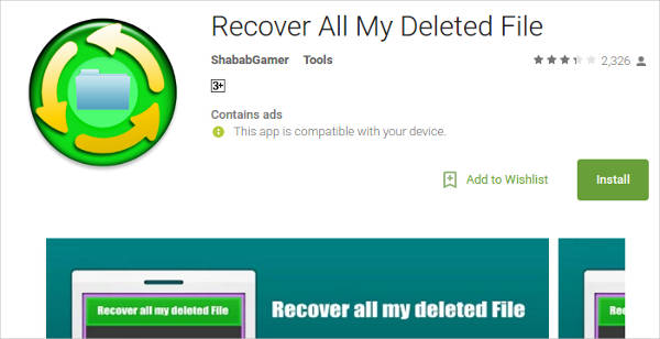 recover all my deleted file for android