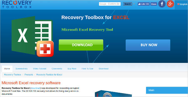 recovery toolbox for excel
