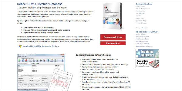 reflect crm customer database1