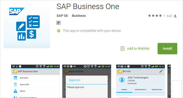 sap business one for android