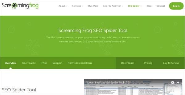 seo spider tool