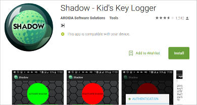 shadow kids key logger for android