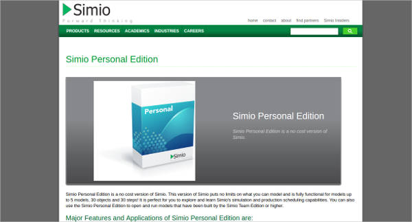 simio personal edition
