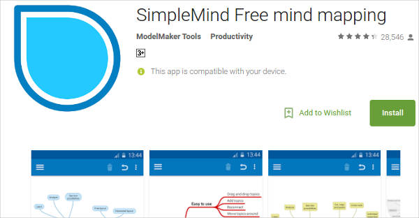 simplemind free mind mapping for android