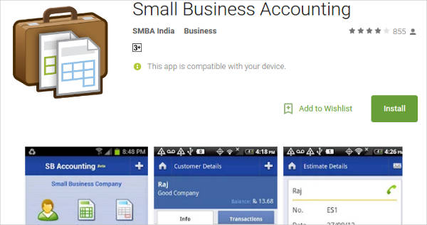 small business accounting for android