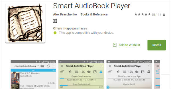 smart audiobook player for android
