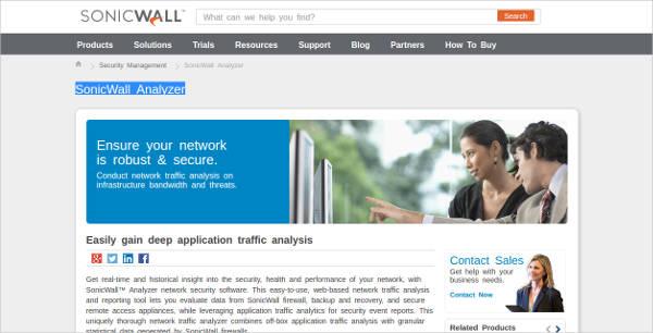 sonicwall analyzer