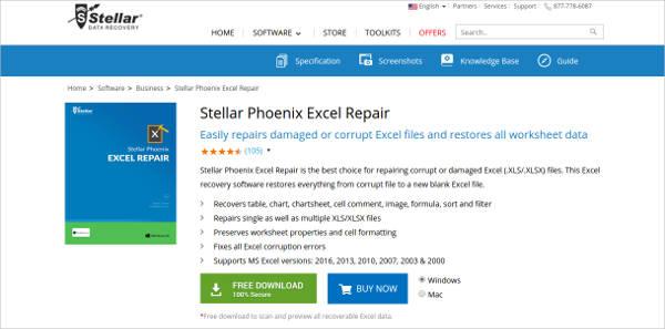 stellar phoenix excel repair for mac