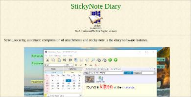 stickynote diary