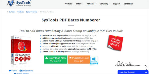 systools pdf bates numberer