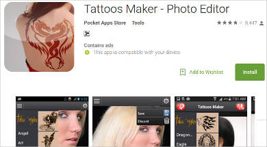 tattoos maker for android
