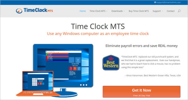 timeclock mts