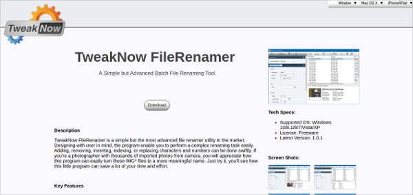 tweaknow filerenamer for mac