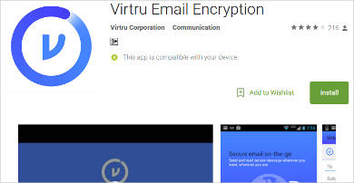 virtru email encryption for android