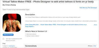 virtual tattoo maker free for mac