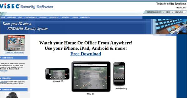 visec surveillance software for windows