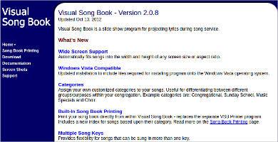 visual song book