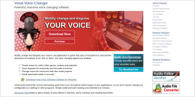 voxal voice changer most popular software
