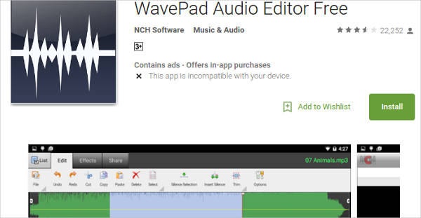 wavepad audio editor free for android1