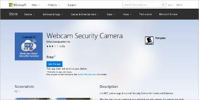 webcam security camera for windows