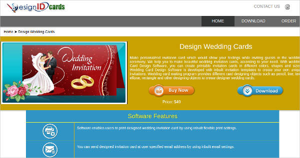 wedding card design software